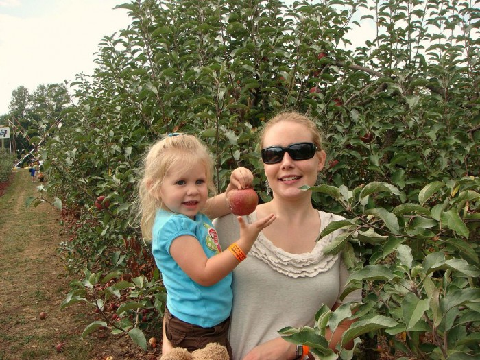 keeping up the apple tradition with my daughter