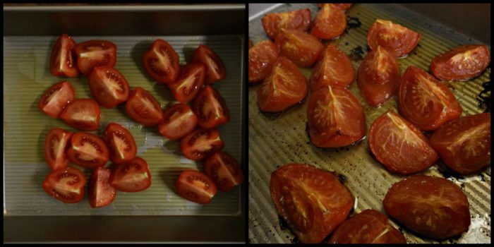 Before and after roasting