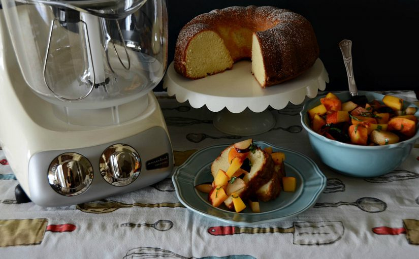 Lime Pound Cake with Basil and Stone Fruit
