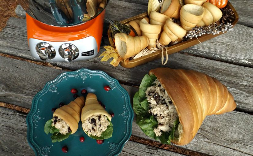 Thanksgiving: Cornucopia Rolls with (Leftover) Turkey Salad