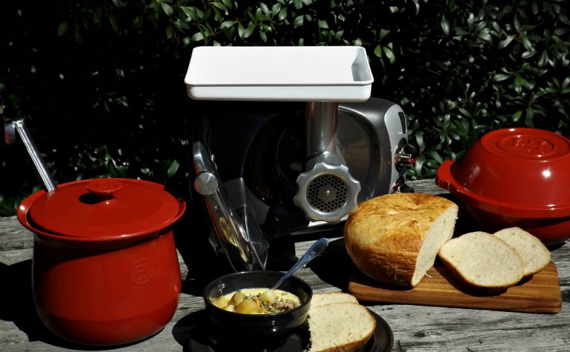Potato Bread with Rustic Sausage & Potato Soup – Emile Henry Feature and GIVEAWAY!