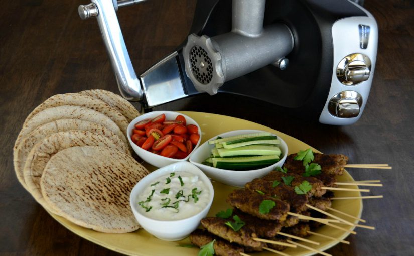Spiced Beef Kebabs with Yogurt Cucumber Sauce