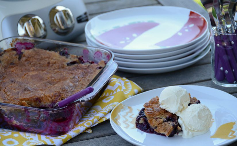 Blueberry Cobbler with Cookie Dough Topping