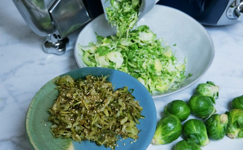Roasted Brussels Sprouts with Toasted Sesame Vinaigrette