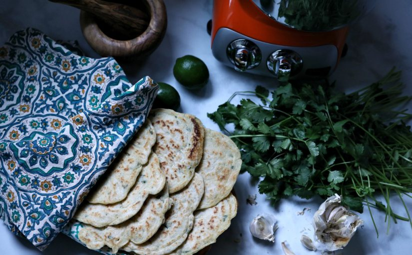 Cilantro and Garlic Vegan Gluten-Free Flatbread