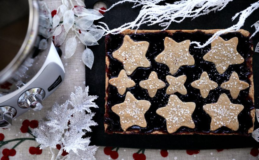 Linzer Cookie Bars